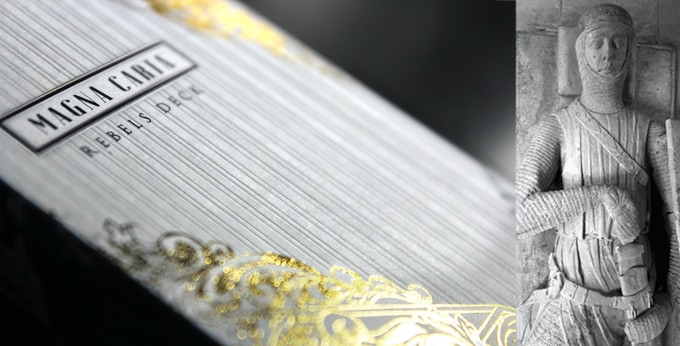 Embossing pattern was based off of Knight's pleats.