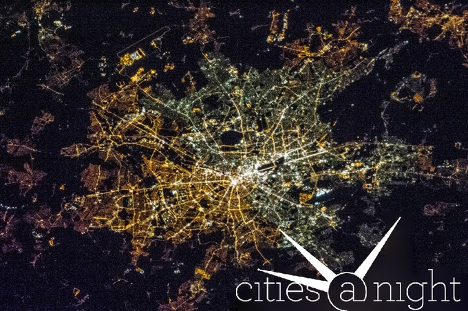 East and West Berlin have very different lighting - Gateway to Astronaut Photography of Earth