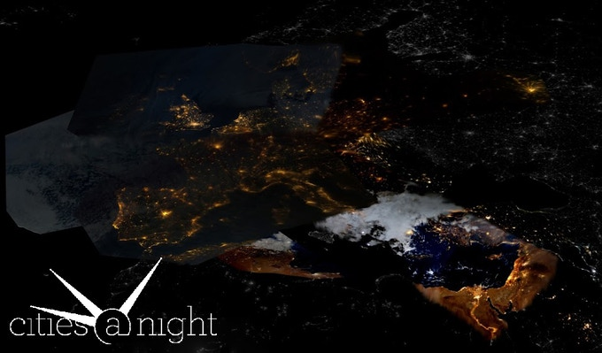 Our Europe Mosaic with pictures from Gateway to Astronaut Photography of Earth