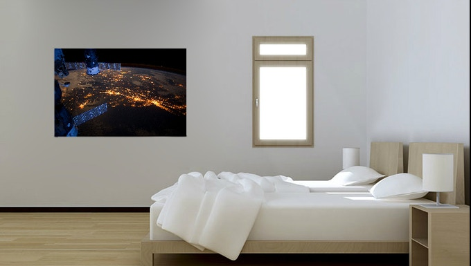 Any photograph from the Gateway to Astronaut Photography of Earth can be in your room