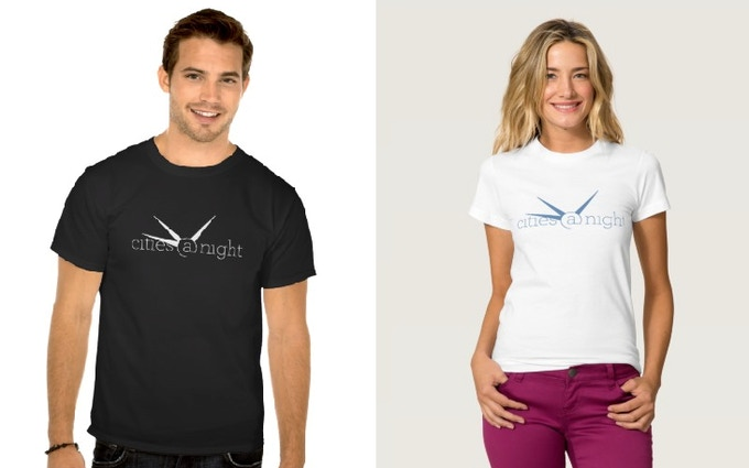 The official Cities at Night T-shirts