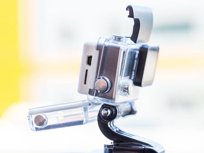 SteadXP@ fits inside GoPro®* waterproof case