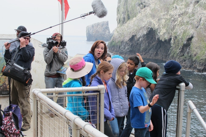 4th graders on Anacapa Island with teacher Margie Ryckman.