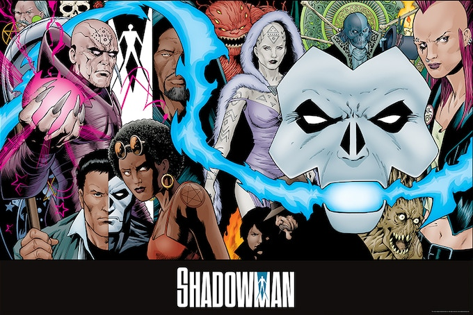 "Poster side 1: Barry Kitson ""Shadowman Family"""