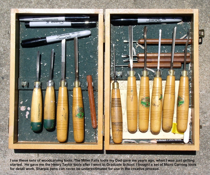 Woodcarving tools that i use to carve linoleum blocks my