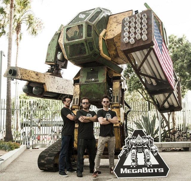 The Mk.II - a 12,000-pound, 15-foot-tall combat robot that needs upgrades for hand-to-hand combat.