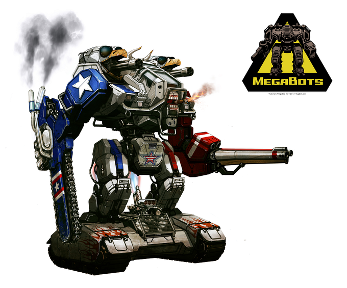 The upgraded Mk.II concept - the most American robot ever made.