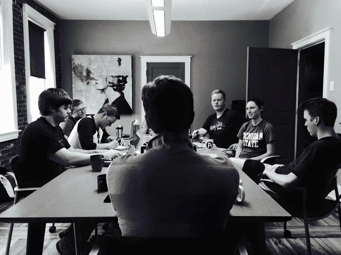 Writers meeting at Nebula Coworking.