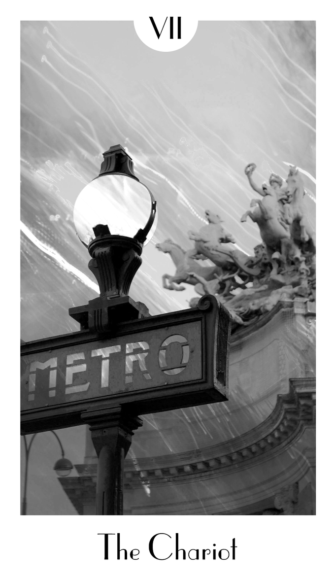 City Mystic •Paris The Chariot, the first card to be completed upon return to the states.