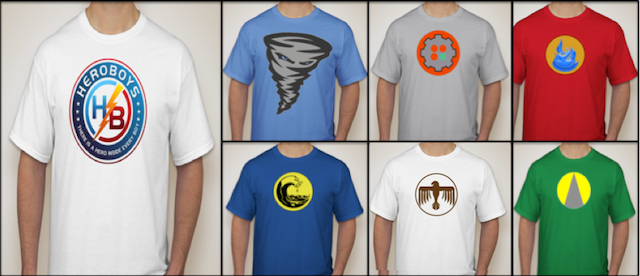 T-Shirts (The Hero Every Day of the Week package)