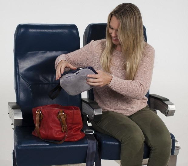 So small it fits into your purse. Let's see your neck pillow do that!