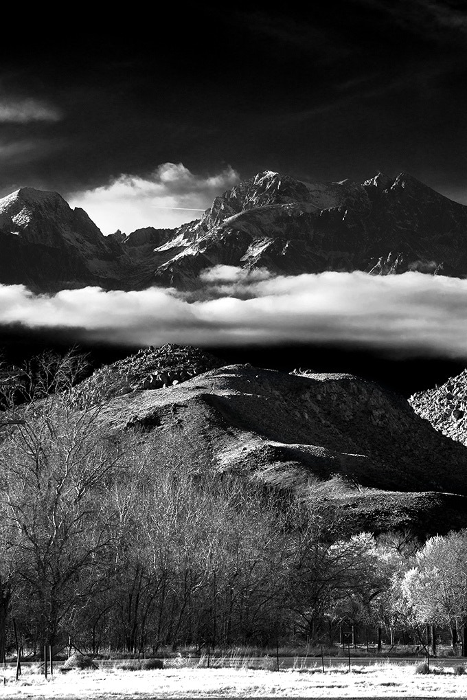 Infrared Layers of Mountains