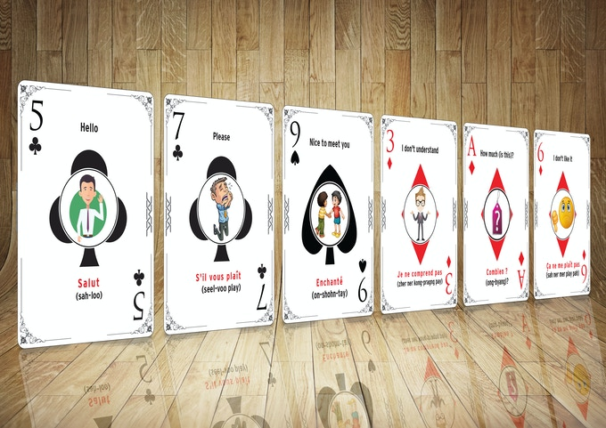 "6 examples from ""Learn French (while) Playing Cards"""