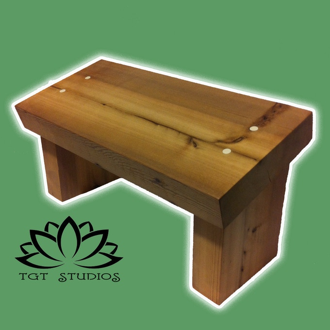 Meditation & Yoga Bench Made From 1000Yr Old Cedar