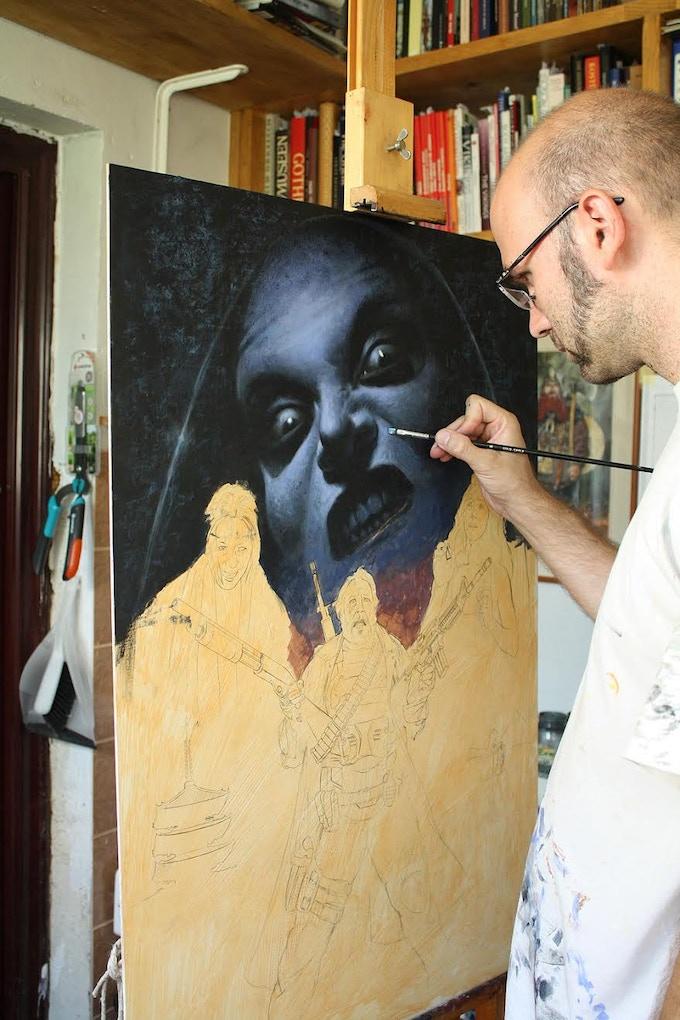 Milivoj Ceran in his studio