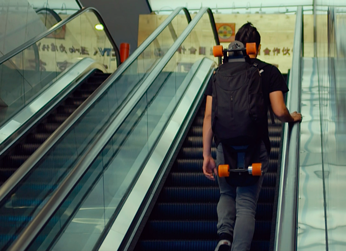 STARY fits perfectly in your skateboard backpack