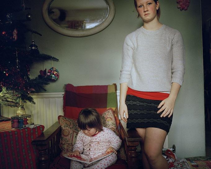 Alice and Martha Christmas Morning