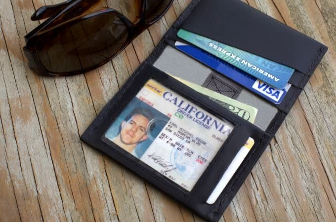 Slim Wallet Carbon Fiber Money Clip Rfid Protected By