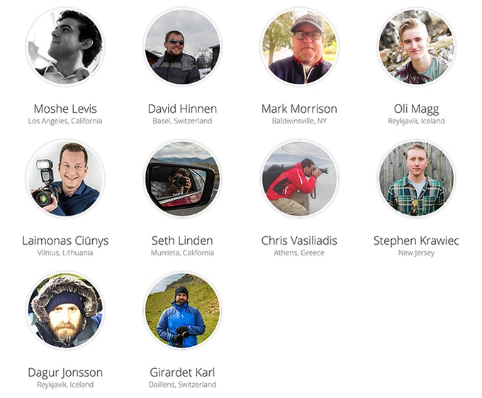 Some of our amazing contributing photographers