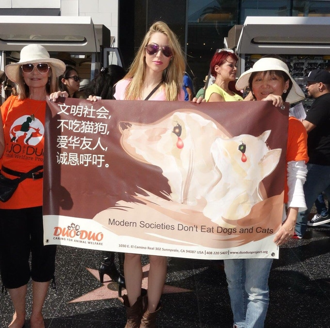 From California to China, we support the end of the dog and cat fur and meat trade.