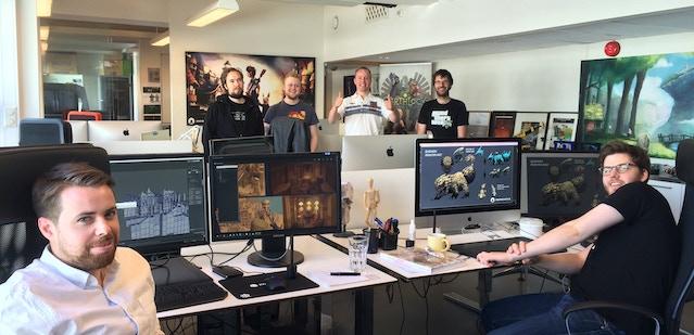 From left: Matthew, Eivind, Øystein, Bendik, Thomas. (Fredrik behind camera)