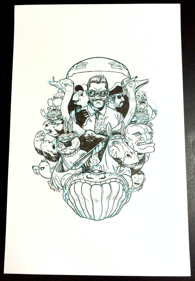 The original art for the T-Shirt can be bought with monies!