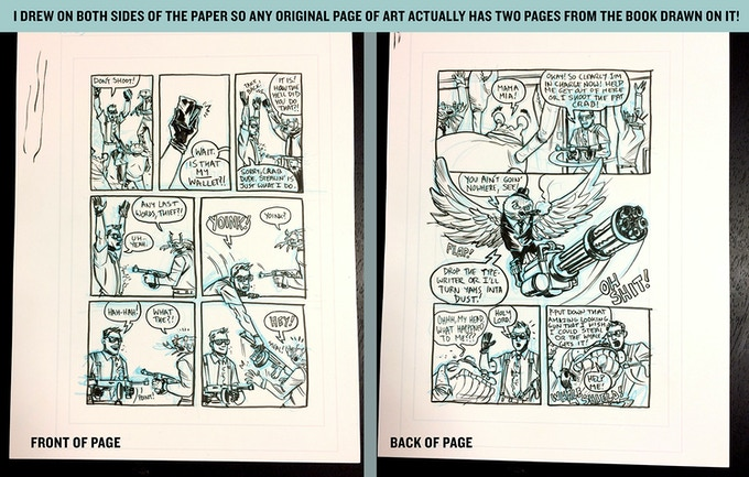 Original art pages from the book!