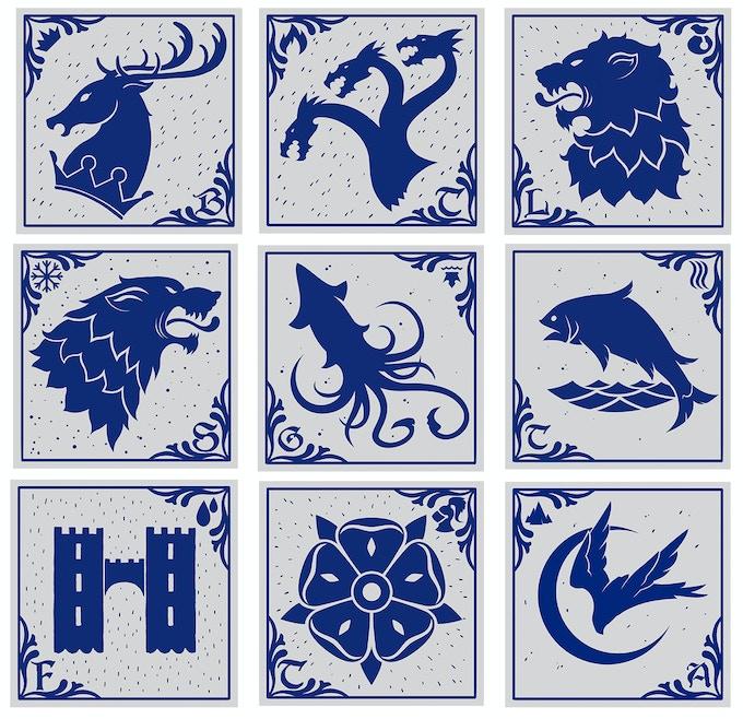 Collection Westeros Tiles - Artwork