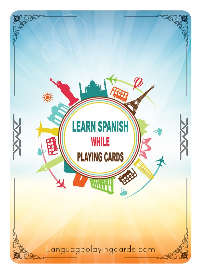 "Learn Spanish Deck Design (The French Deck will look the same but will say ""Learn French"")"