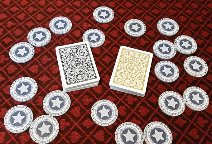 Tournament seating tokens chips heraldry theme by old for 12 seater poker table