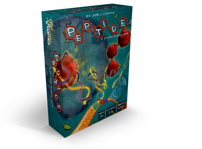 A genetics-based, open-drafting card game, accurately themed around how living cells build proteins!