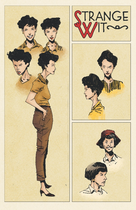 Sketches of Jane at various ages by Tyler Jenkins