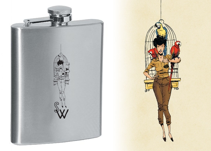 backer reward: Strange Wit flask, art not final
