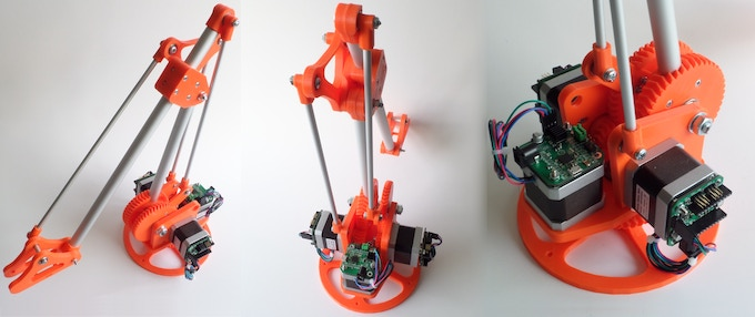 Robot arm as example application for the uStepper