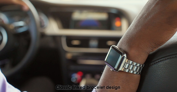 Our stainless steel bands are like a natural extension of the Apple Watch. 36ab928afec6