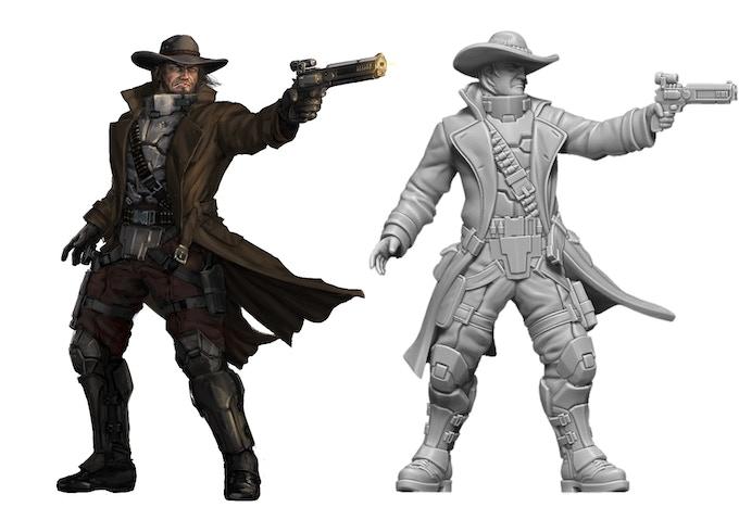 The Gunslinger Art and Render Comparison