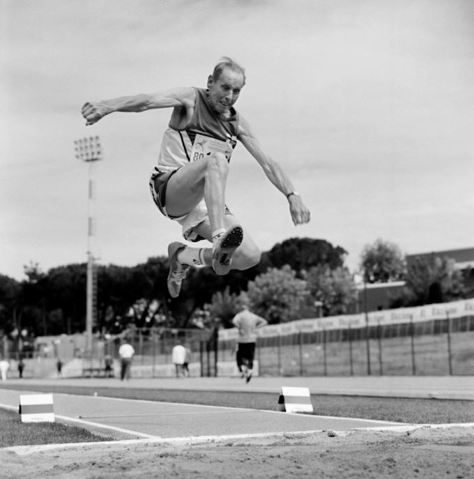 Long Jumper. 80-84 division. Italy, 2007.