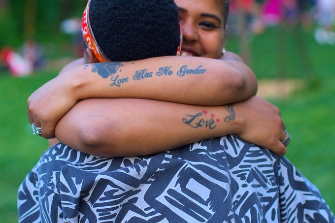 """Hug in Prospect Park"", June 2015"