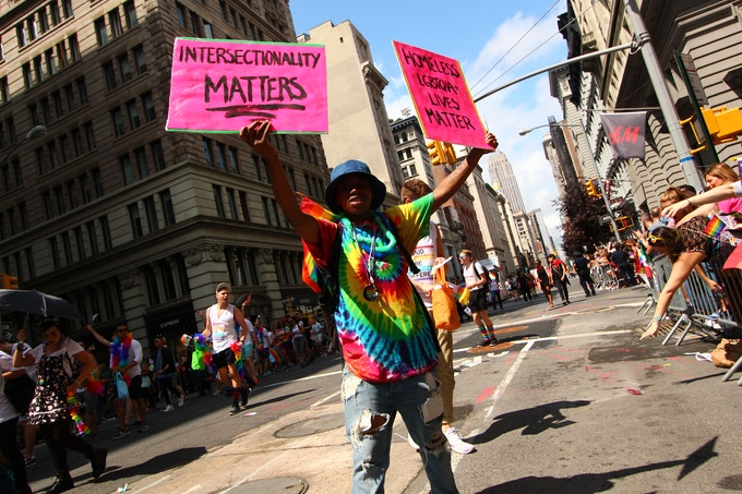 """Intersectionality Matters"", Pride Parade NYC, June 2015"