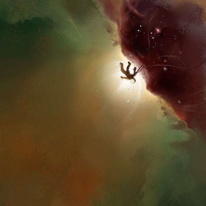 Space is ominous and brilliant all at once. (Art by Ashley Lange)
