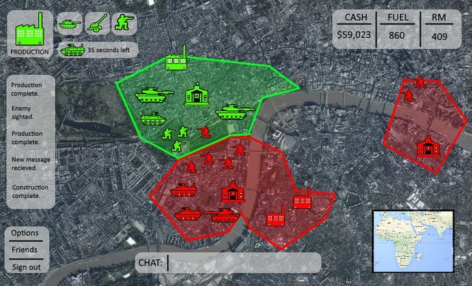 ... to a city-wide battle for control of London's centre ...