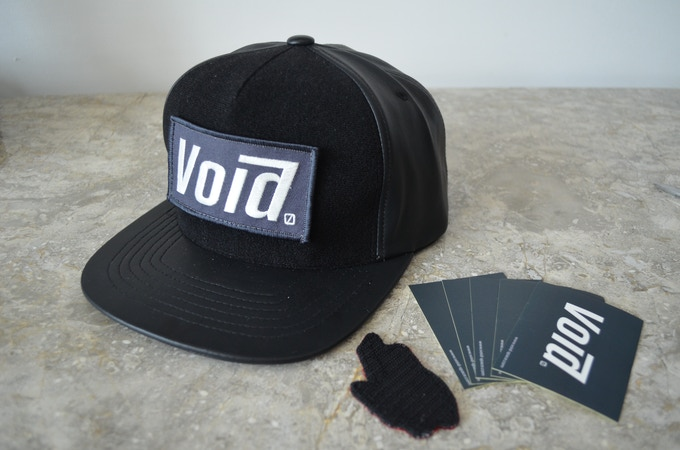 Void CUSTOM Snapback Hat: faux leather for F/W by Void