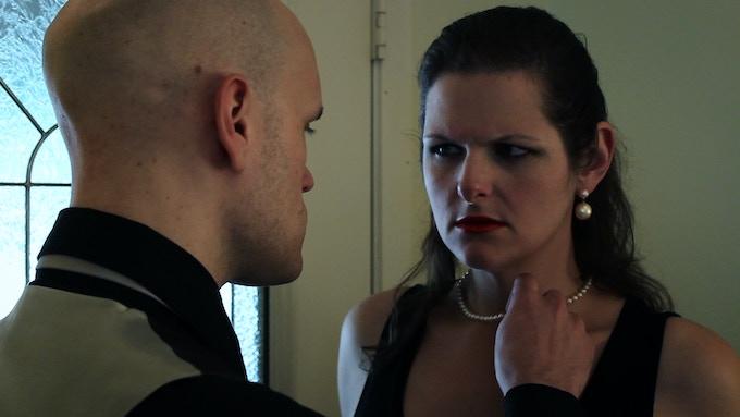 Brandon Whitlock as Lady M and Rae Dawson as Macbeth
