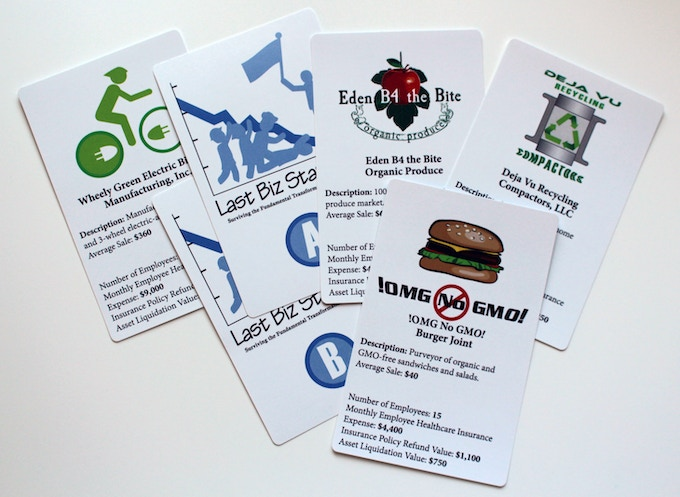 Examples of the 24 Biz Description Cards