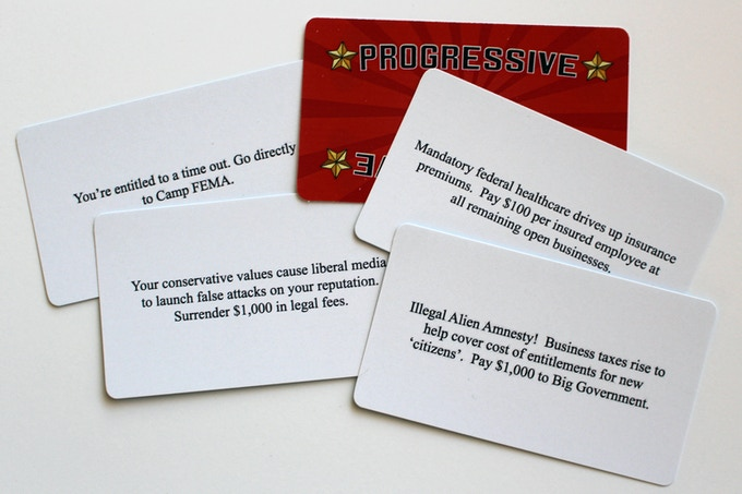 "Examples of the 15 ""Progressive"" Cards"