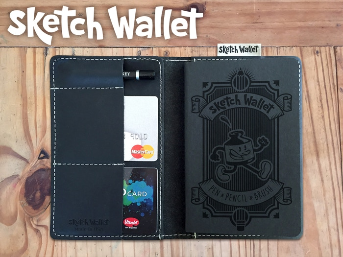 Always have your sketchbook with you with Sketch Wallet! It's a leather wallet with a sketchbook inside.