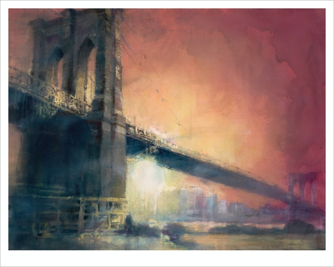 """Sunset"" (The Brooklyn Bridge)"
