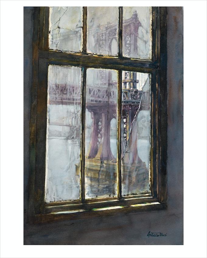 """Broken Window"" (Manhattan Bridge)"