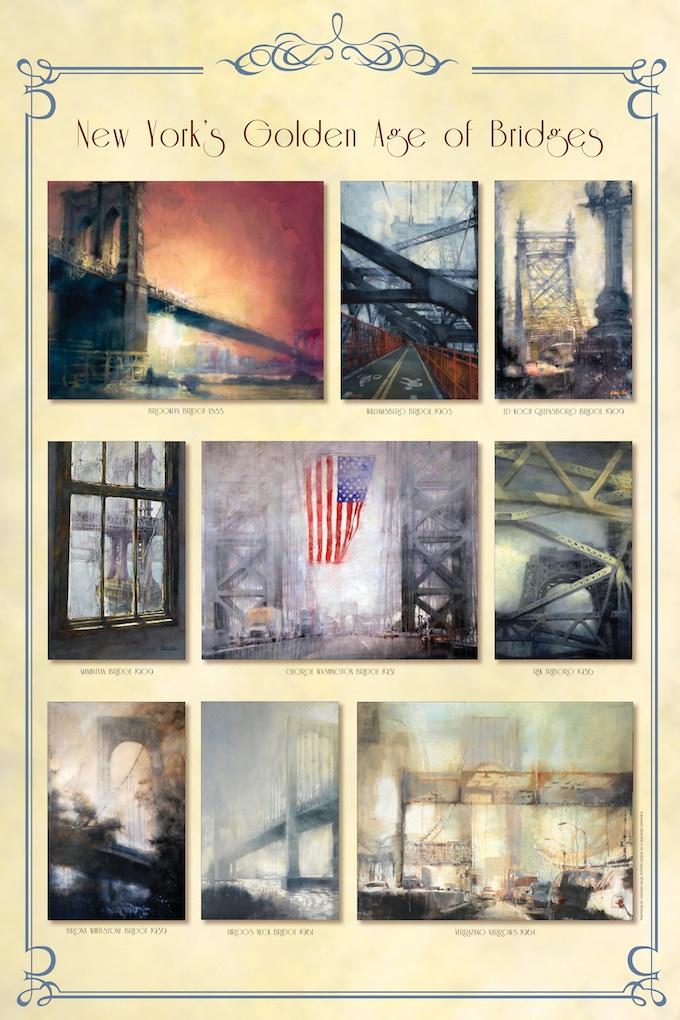 """New York's Golden Age of Bridges"" Original Poster"
