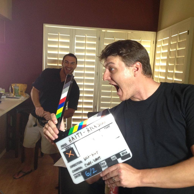 Blaine And Rob Getting Goofy After Filming The Kickstarter Video